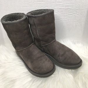 UGG dark gray half calf boots size 9